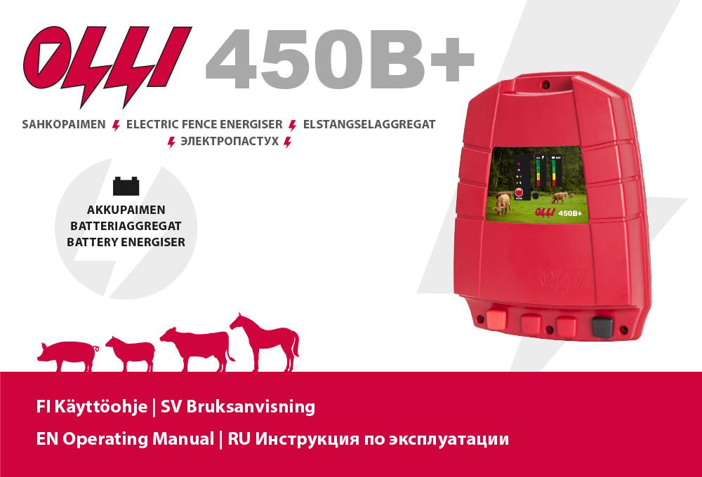 Olli 450B+ käyttöohje - bruksanvisning - operating manual